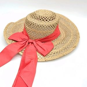 Paul Harris Co. Straw Summer Hat Oversized Bow